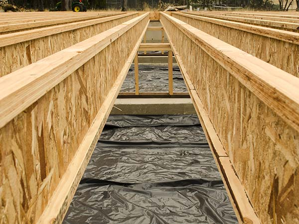 Image of Wood-I-Joists used for floor support